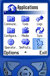 Figure 2 - The smartphone menu
