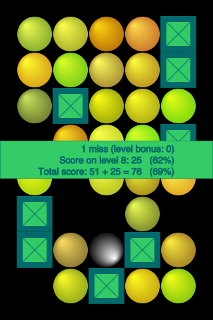 Figure 11 - One miss<br>ends level 8<p>