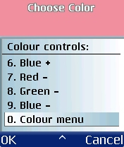 Figure 35 - Color controls<br>6 to 0