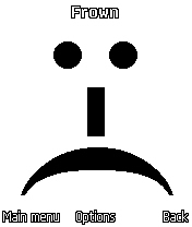 Figure 27 - The frown<br>mood icon