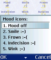 Figure 24 - Mood icons<br>1 to 5