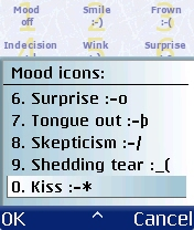 Figure 25 - Mood icons<br>4 to 8